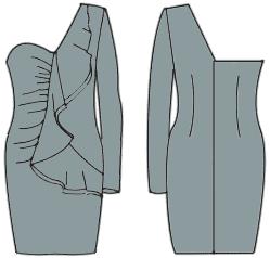 выкройка облегающего платья и