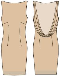 Выкройка платья спереди качели