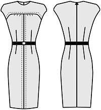Платье с полочкой на кокетке