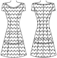 Рельефы на спинке платья