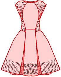 Моделирования полочки платья