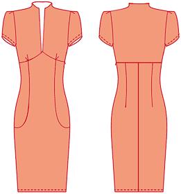 Платья рельеф с карманами