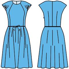 Сшить платье с отрезным поясом
