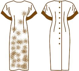 Платье застежка сзади на пуговицы