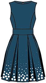 Платья из плотной ткани с поясом
