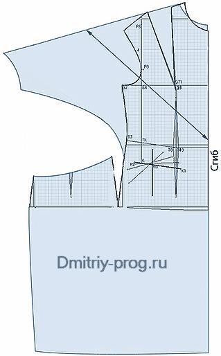 Расчет ткани для платья летучая мышь