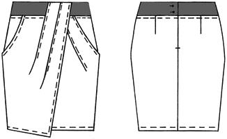 Моделирование юбок с карманами