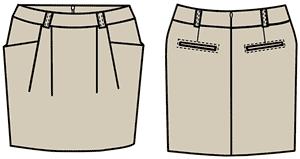 Юбки карманы моделирование